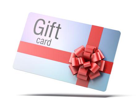 gift card geïsoleerd op een witte achtergrond. 3d render Stockfoto