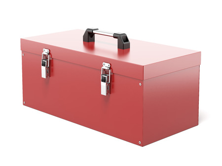 Closed Tool Box  isolated on a white background. 3d render