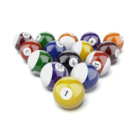 billiards tables: Billiard balls  isolated on a white background. 3d render