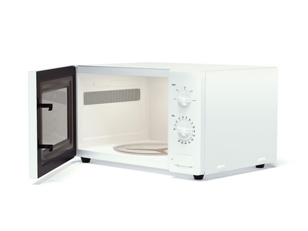 Microwave oven  isolated on a white background. 3d render photo