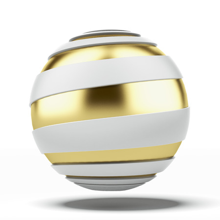 3d shape: Abstract ball with spiral shape  isolated on a white background. 3d render