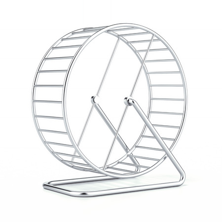 hamster: hamster wheel isolated on a white background. 3d render Stock Photo