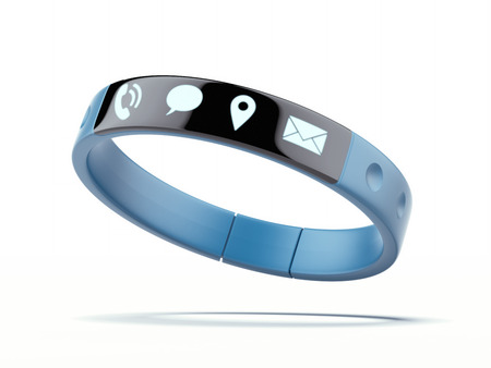 wristband: Smart wristband isolated on a white background. 3d render