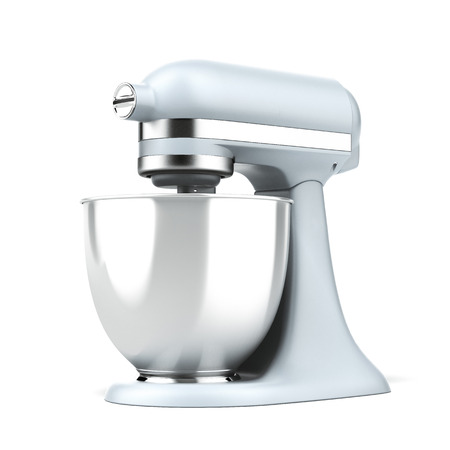Blue stand mixer  isolated on a white background. 3d render photo