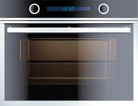 Electric oven isolated on white. 3d render photo