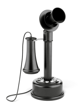 antique phone: Candlestick Telephone isolated on a white background. 3d render