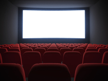 cinema screen with seats photo
