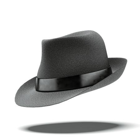 복고풍 검은 모자