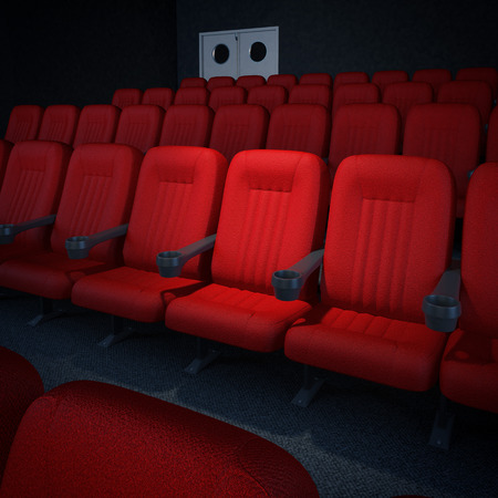 Empty cinema or theater auditorium  photo