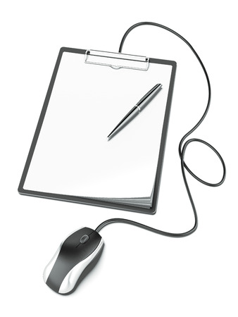 census: Black clipboard with mouse