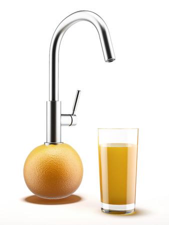 gush: Orange with water tap