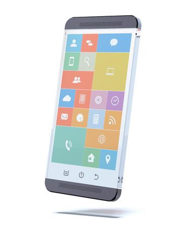 Smartphone verre transparent Banque d'images - 30558509