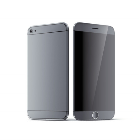 isolates: Silver grey new smartphone