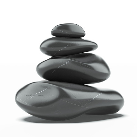 Stack of spa hot stones  photo