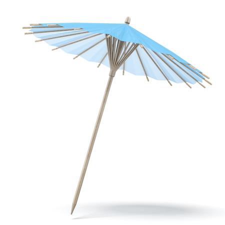 cocktail umbrella: Blue cocktail umbrella