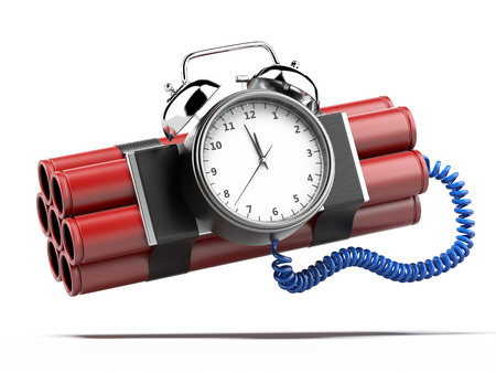 time bomb: Bomb with clock timer  Stock Photo