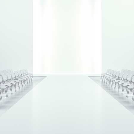 Biały mody pusty pas startowy