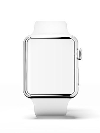 White smart watch photo