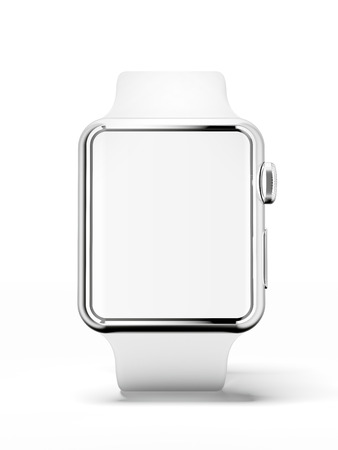 White smart watch