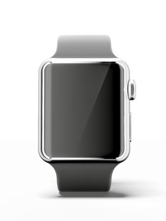 Zwarte slimme horloge