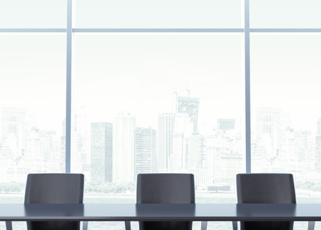 corporate meeting: Workplace for negotiations with table Stock Photo