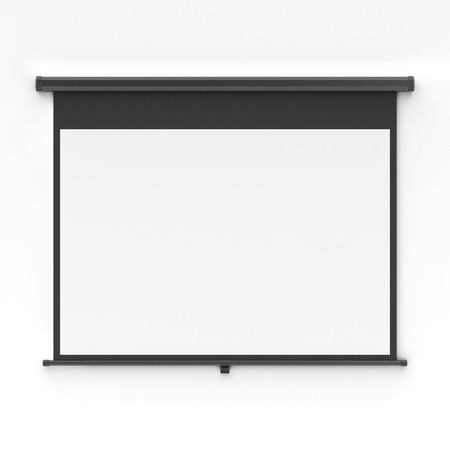 Projector screen Stock Photo