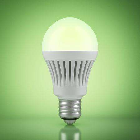 e27: Multicolor LED bulb with wireless remote control Stock Photo