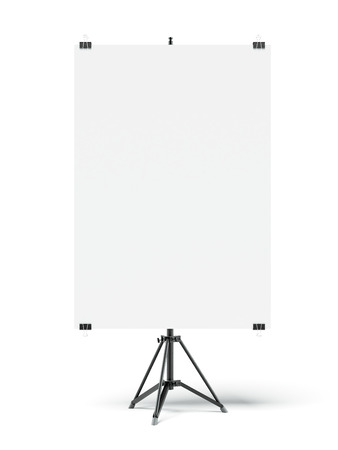 Tripod with blank sheet photo