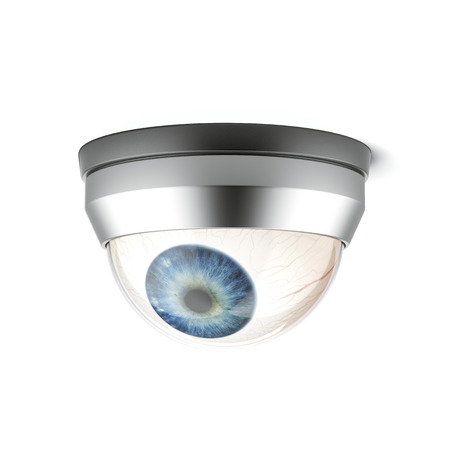 torrent: security camera with blue eye Stock Photo
