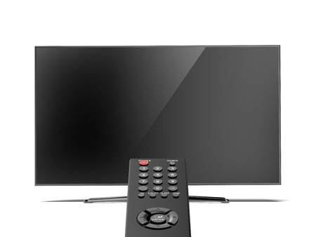 remote control and the TV screen photo