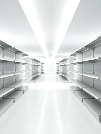 Empty retail shelves Stock Photo - 33430978