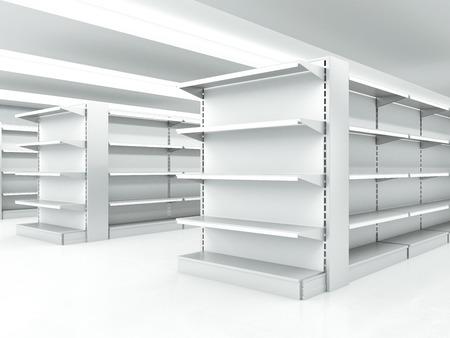 白いきれいな棚