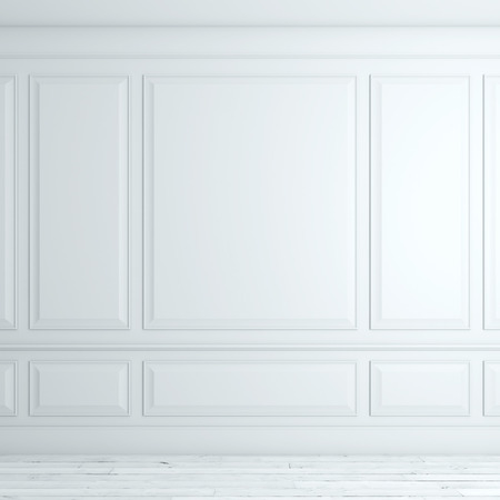 empty space: White classical interior Stock Photo