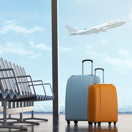 maletas de viaje: Maletas en aeropuerto