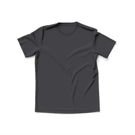 front view: Black t shirt