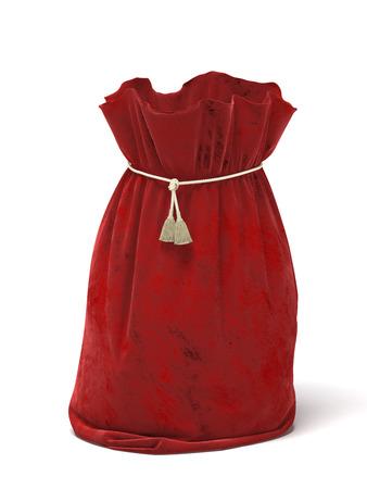 sackful: Santa Claus red bag