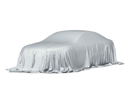 灰色の布で覆われた車 写真素材
