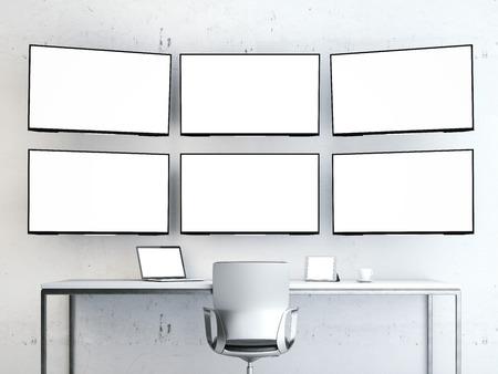 Zimmer mit Videowand.
