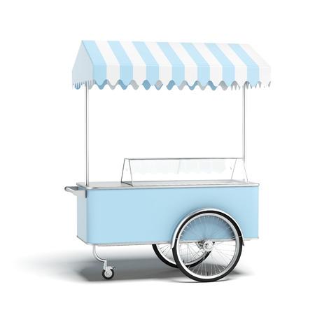 블루 아이스크림 카트 스톡 콘텐츠