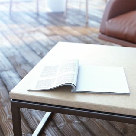 Magazin auf dem Tisch