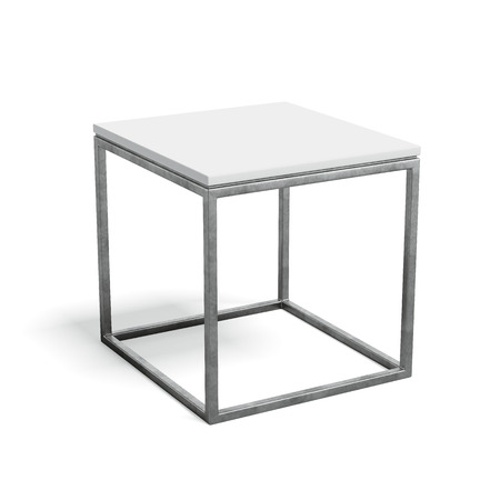 small table: Modern metal coffee table Stock Photo
