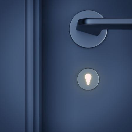 keyhole: doorway with keyhole