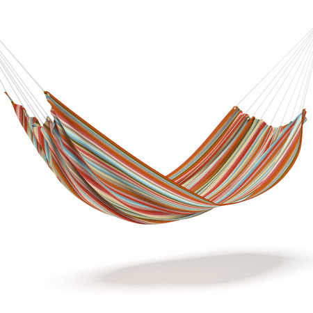 suspended: Colored hammock