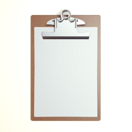 blank check: Wooden clipboard with blank sheet