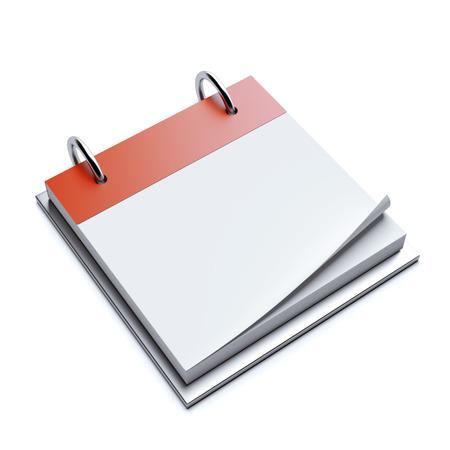 cartoon calendar: Red blank calendar