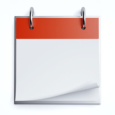 Red calendar Stock Photo