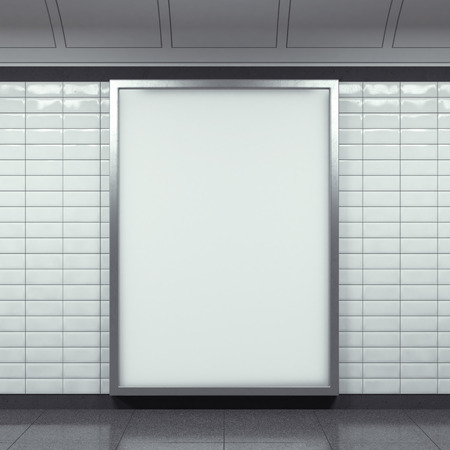 vertical billboard on metro station