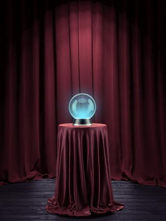 fortune teller: Magic globe Stock Photo