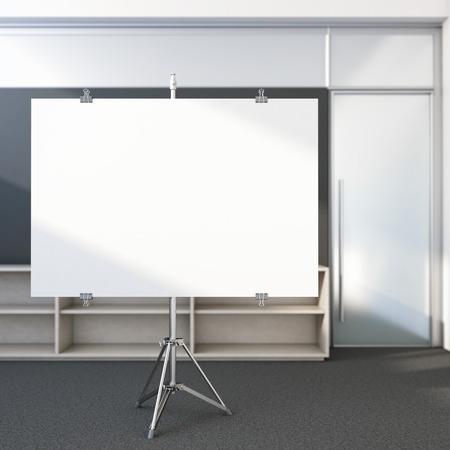 Leeg scherm in het kantoor Stockfoto