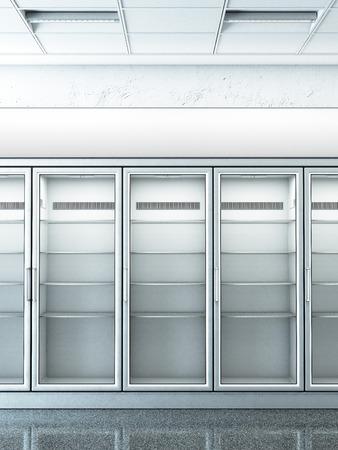 Stocker avec un frigo vide Banque d'images - 36824162